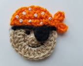 8pcs Crochet PIRATE Theme Applique Mix