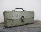 Rusty Metal Tackle Box, Industrial Metal Storage Box, My Buddy Tackle Box, Stash Box, Cash Box, Parts Storage