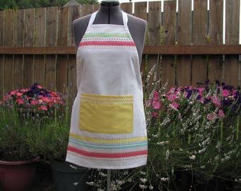 Cotton apron light and fresh
