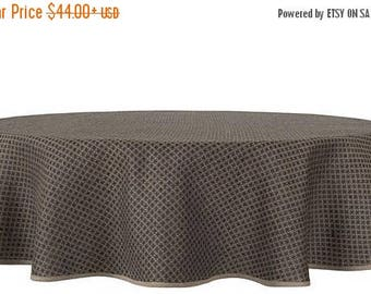 20%SALE Gray Black Linen Tablecloth, Natural Tablecloth, Kitchen Accessory,  Home Accessory