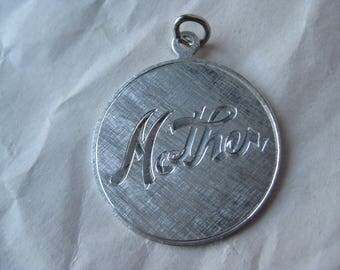 Mother Sterling Charm Silver Vintage 925 Mom