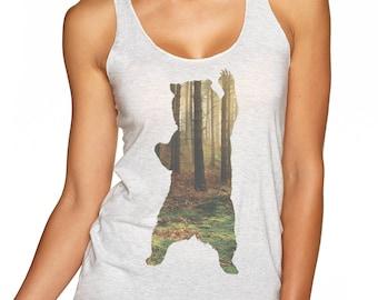 Women's Tank Tops | Womens Graphic Tees | Bear T-Shirt | Workout Tank | shirts for women | Women's Tanks | Women's tops | Ladies Tank Top