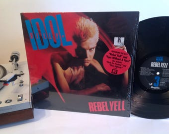 Billy Idol - Rebel Yell - Must Have Dance Party Album - 1980s - Synth Pop - Punk - w/ Mtv Hype Sticker!