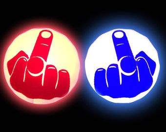 Middle Finger Light Up LED Pasties, Fuck Off Pasties, Feminist Shirt, Fuck You Gift, Funny Girl Gift, Fuck It
