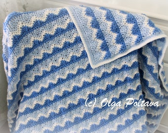 Caron Cakes Ripple And Shells Lapghan Crochet Pattern Easy