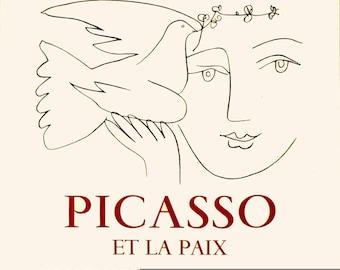 Pablo Picasso-L'art et la Paix-1971 Lithograph