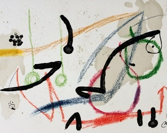 Joan Miro-Maravillas #1059-1975 Lithograph