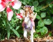 Fairy with Unicorn for Miniature Garden   Faerie   Miniatures   Fairy Figurine   Fairy Decor   Fairy Statues   Resin Fairies   Garden Fairy