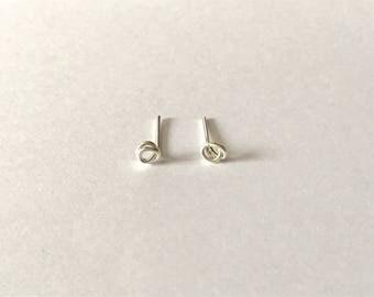 NEW Tiny rose studs - sterling silver earrings, minimalist earrings, simple everyday earrings, petite earrings, gift for her