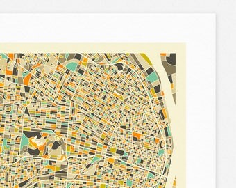ST LOUIS MAP (Giclée Fine Art Print, Photographic Print or Poster Print) by Jazzberry Blue