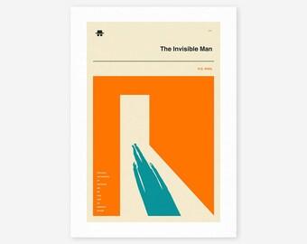 THE INVISIBLE MAN (Giclée Fine Art Print/Photo Print/Poster Print) Orange version