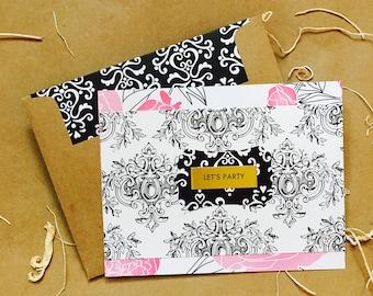 Tuxedo Rose {Note Card} ~ single or sets