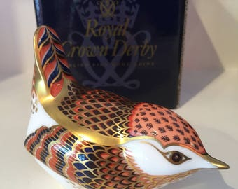 Royal Crown Derby China Wren BOXED Paperweight 1997