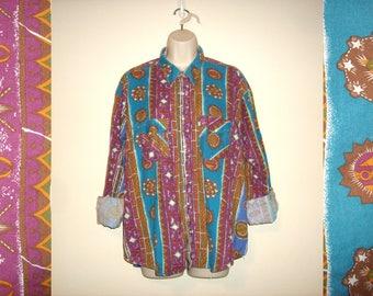 Vintage 1990s Southwestern Hippie Shirt