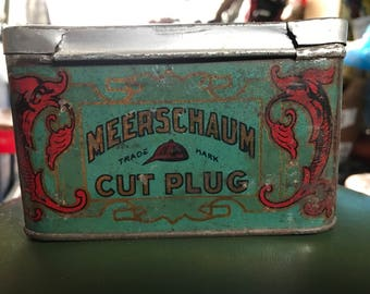 Nice Meerschaum Cut Plug Tobacco Tin
