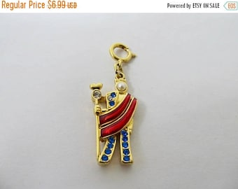 ON SALE MONET Enameled Rhinestone King Charm Item K # 826
