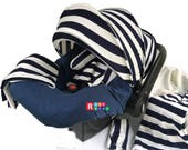9pc Baby Boy Baby Girl Ultimate Set of Infant Car Seat Cover Canopy Headrest Blanket Hat Nursing Scarf