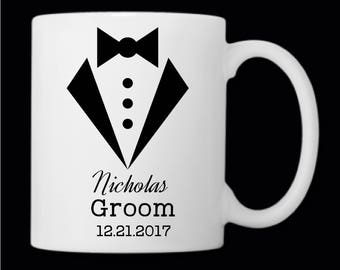 Groom Coffee Mug, Bestman Coffee Mug, Groomsman Coffee Mug, Gift for Groomsmen, Coffee Cup, Wedding Party Gifts, Bachelor Party, Wedding Day