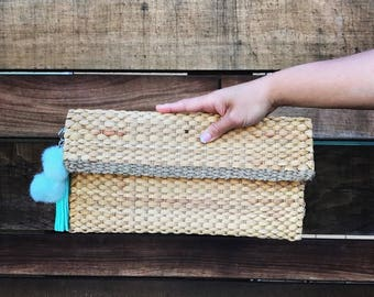 Handwoven clutch, straw tote, straw clutch bag, straw handbag (