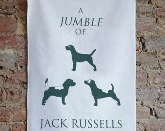 Jack Russell Tea Towel - Jack Russell Terrier Kitchen Towels - Jack Russell Gift - Jack Russel Kitchen Accessories - Dog Lover New Home Gift