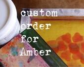 Custom listing for AMBER - 3x t-shirts- skull screen printed
