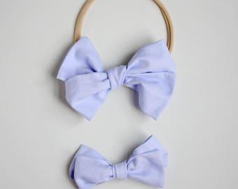 Light Lavender Emmie Bow headband or clip