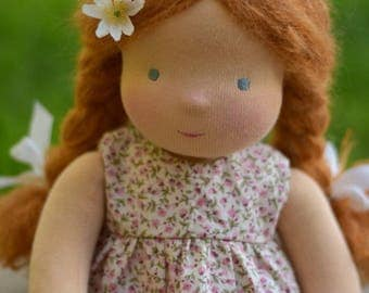 """Waldorf doll 16"""" ,Ruby , Copper Hair (made to order)"""