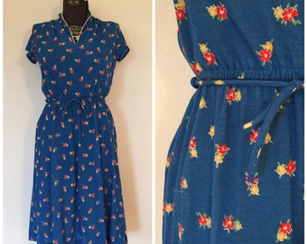 Vintage Floral Dress / Small / OOPS California