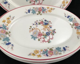 Syracuse, Floral, Platter, Asian theme, set of 3