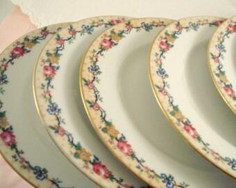 Vintage Wedding Luncheon Plates Limoges France Depose C. Ahrenfeldt Limoges Set of 5 Vintage Limoges Vintage Bridal Shower