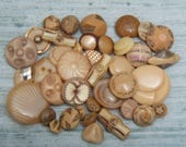 Lot of Toffee Vintage Glass and Plastic Buttons
