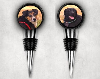 Personalized Photo Wine Stopper - Custom Wine Stopper - Wine Stopper - Wine Stopper With Your Photo - Dog Lover Gift - Dog Photo Gift - Gift