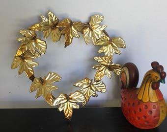 Vintage Metal Heart Wreath Shabby Chic Metal Art Leaf Sculpture Wall  Hanging,metal Wall Art Part 88