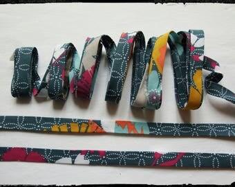 Bias fabric Japanese teal 20mm