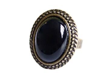 Valentine black ring