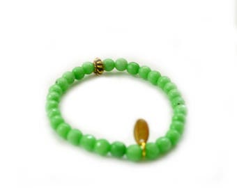 SALE Green Agate Bracelet