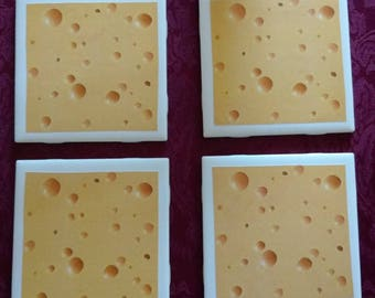 Swiss Cheese Coasters