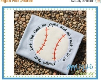 50% Off Baseball with Bible Verse applique digital design for embroidery machine by Applique Corner