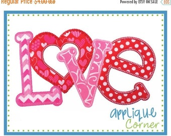 50% Off INSTANT DOWNLOAD Love Horizontal Valentine's Day applique design in digital format for embroidery machine by Applique Corner