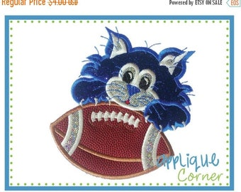 40% OFF INSTANT DOWNLOAD Wildcat Football applique design in digital format for embroidery machine by Applique Corner