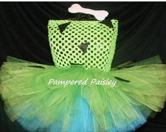 25% off SALE Pebbles inspired tutu dress - Flintstone tutu - Flinstone Halloween Costume - Baby Pebbles