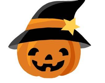 Halloween Jack o Lantern png, jpg and svg cutting file