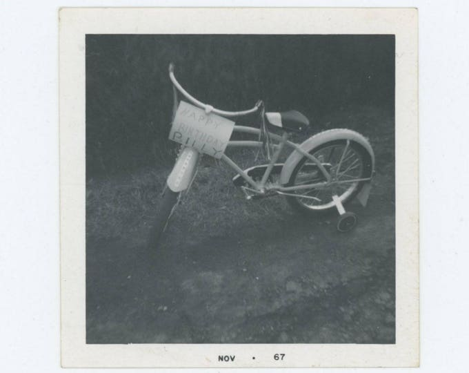 """Vintage Photo Snapshot: """"Happy Birthday, Billy"""" 1967 (75585)"""