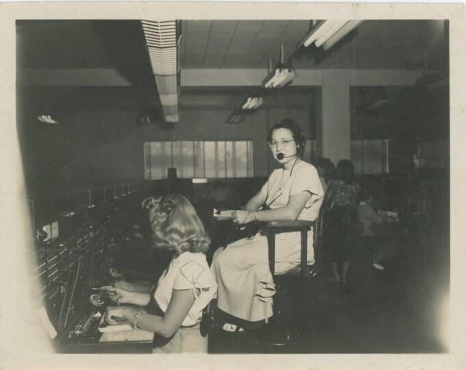 Telephone Exchange, c1940s-50s: Vintage Snapshot Photo [82653]
