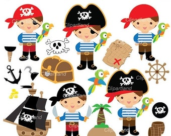 ON SALE INSTANT Download. Cp_60_Pirate_boy. Pirate clipart. Personal and commercial use.