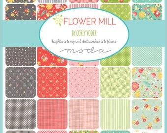 Flower Mill Charm Pack by Corey Yoder for Moda