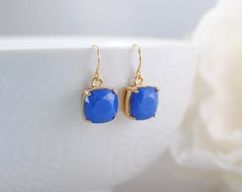 The Alexea Earrings - Royal Blue