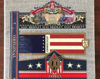 2017 Cigar Band Collage Coaster: American Original