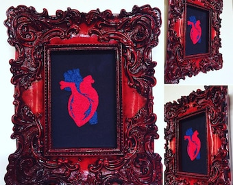Hand Embroidered Anatomical Heart