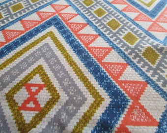 Quilting Weight Cotton Fabric Moroccan Tiles in Multi by Michael Miller 1 yard